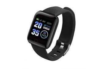 2019 New Smart Watch 116 PLUS Smart Bracelet D13 Heart Rate Blood Pressure Waterproof- Smart Bracelet D13-Black Brazil