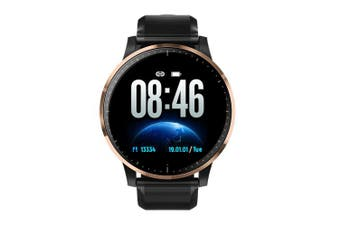 Q20 Full Touch Smart Watch Waterproof Heart Rate Blood Oxygen Monitor Fitness Sports Smartwatch- Gold