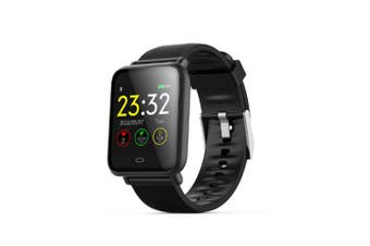 Q9 blood pressure heart rate monitor IP67 waterproof sports fitness smart watch- Black
