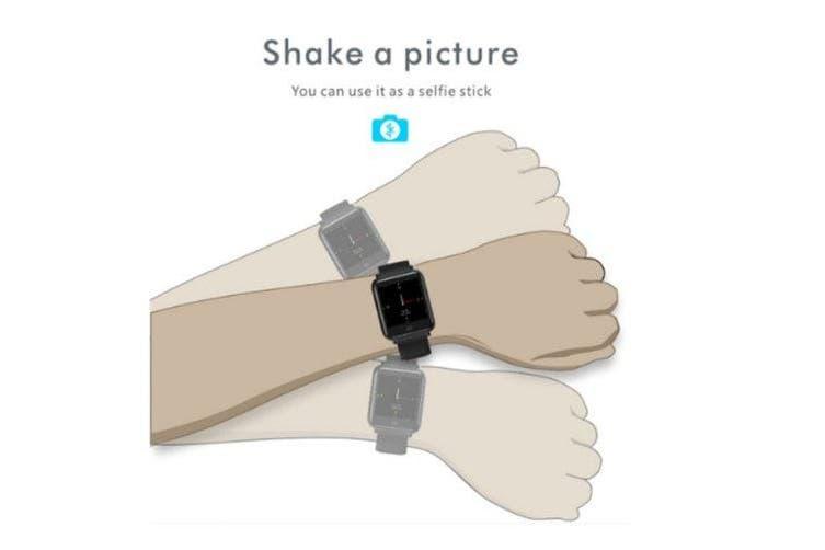 Q9 blood pressure heart rate monitor IP67 waterproof sports fitness smart watch- Black