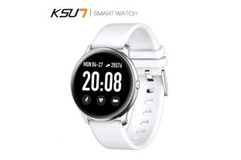 KSUN KSR908 Magic Smart Watch Heart Rate Blood Bluetooth Fitness Smartwatch For Android IOS Phone- White