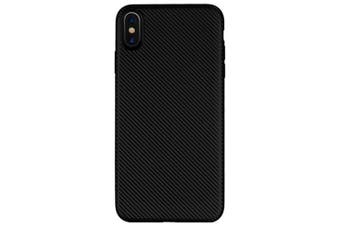 Carbon Fiber Pattern Soft Case Cover for iPhone XS Max- Black