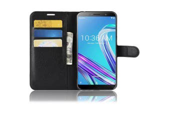 Naxtop Multi-function Fashion Leather Cover Phone Case for Asus Zenfone Max Pro ( M1 )- Black