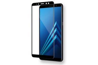 Mr.northjoe Tempered Glass for Samsung Galaxy A8 (2018)- Black