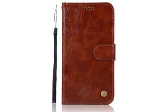 Luxury Vintage Case for Xiaomi Mi 5X Case Wallet Flip PU Leather Cover Case Xiaomi Mi A1 / M5X / Mi5X Phone Bag with Stand- Brown D Style