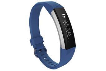 Official Smart Bracelet Watch Strap for Fitbit Alta Hr- Deep Blue S