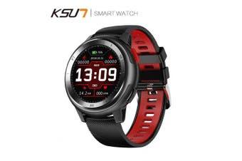 KSUN KSR913 Smart Watch Bracelet 20 Dial Watch Faces Fitness Tracker IP68 Bluetooth Smartwatch- Red