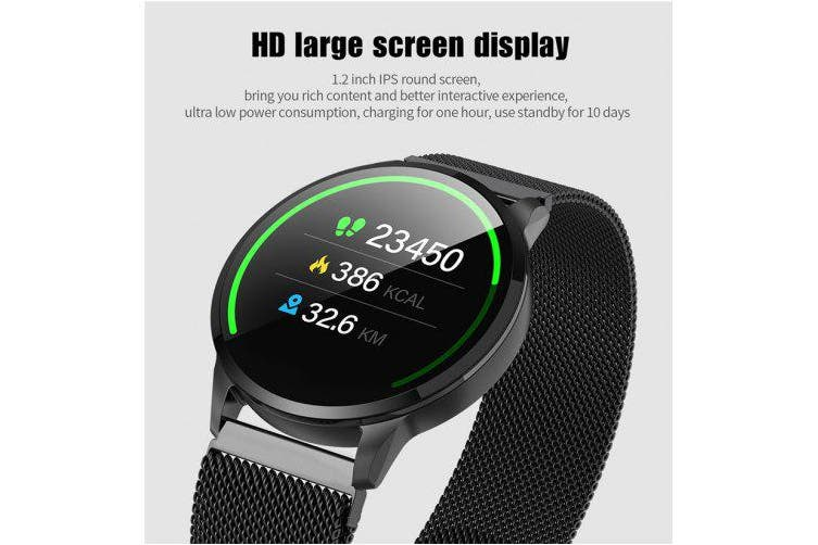 Smart Watch Bluetooth Sports Fitness Tracker Heart Rate Monitor Clock Smartwatch- Grey China