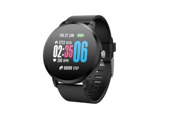 V11 Smart Watch Music Control Waterproof Fitness Tracker Sports Smartwatch- Black 1pc