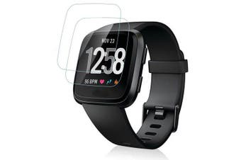 2PCS 0.26mm Tempered Glass Screen Protector for Fitbit Versa Smart Watch- Transparent
