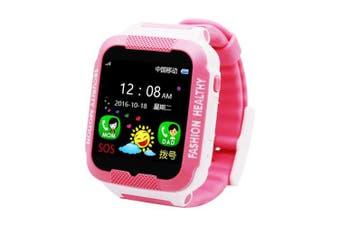 Espanson C3 Child Smartwatch IP67 Swim LBS Touch Phone smart watch SOS Call Location Device Tracker- pink