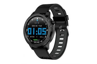 L8 Smart Watch IP68 WaterproofSmartWatch With ECG PPG Blood Pressure Sports Fitness Watches- Black China