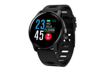 COLMI S08 Men Smart Watch IP68 Waterproof Fitness Tracker Heart Rate Monitor Women Clock- Black