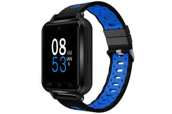 FINOW Q2 4G Smart Phone Watch Android 6.0 MTK6737 Quad Core 1GB / 8GB Smartwatch Heart Rate Pedometer- Blue