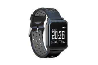Smart Watch Fitness Heart Blood Pressure Oxygen Monitor Rate Pedometer- Jet Black