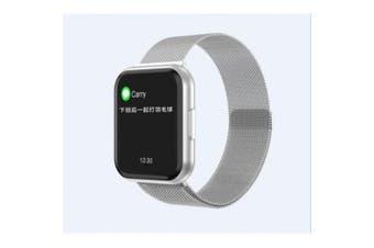 T88 Smart Watch Fashion Smart Wristwatch IP67 Waterpoof Full Touch Screen Watch- Silver mesh band China