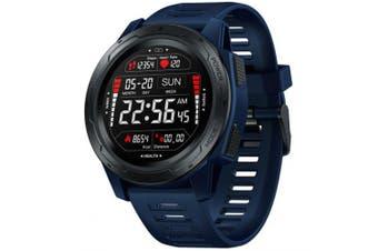 Zeblaze VIBE 5 Pro 1.3 inch Full-round Touch Screen Heart Rate Monitor Sport Data Tracker Brightness Adjust Smart Watch- Deep Blue