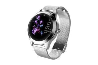 Fashion Women Smart Watch Lovely Bracelet Heart Rate Monitor Smartwatch- Silver 1pc