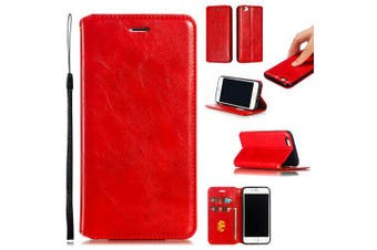 Crazy Horse Wrinkle Protective Phone Cover for iPhone 6S- Red iPhone 6S