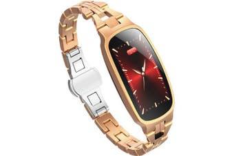 Fashion Smart Bracelet Watch For Women Girls Heat Rate Monitoring Smart Watches- Rose gold China