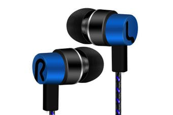 HIPERDEAL Sports Headphones No microphone 3.5mm in-ear stereo for computer mobile phone MP3 music- blue