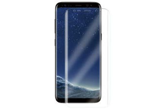 2Pcs Screen Protective Film Surface TPU Full Coverage Soft Film for Samsung Galaxy S8 TPU- Transparent