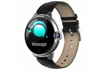 DR88 Business Smart Sports Watch 1.22 inch Sapphire Glass Screen Health Care Fitness Tracker IP67 Waterproof Bluetooth Smartwatch- Black