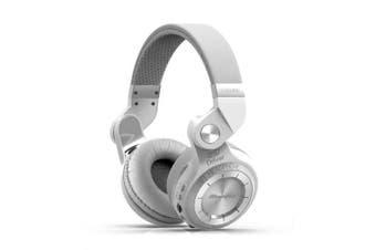 Bluedio T2 Plus Wireless Bluetooth Headphones with Mic BT 5.0 FM Radio SD Card Headset- White China