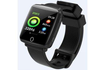 Lenovo HW25 1.3 inch 2.5D IPS Screen All-weather Monitor IP68 Deep Waterproof Weather Display Smart Watch- Black