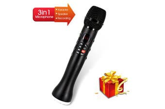 Professional Karaoke Microphone 3 in 1 Recording Wireless Speaker with Bluetooth- China NO TF CARD