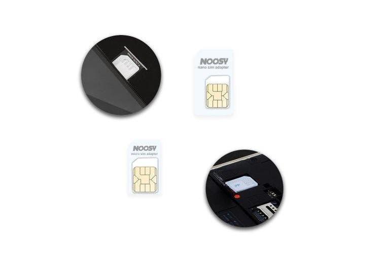 Nano Micro Standard SIM Card Adapter Converter Kit- White