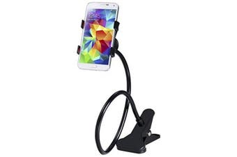 360 Rotating Flexible Long Arm Cell Phone Holder Stand Lazy Bed Desktop Tablet Car Selfie Mount Bracket- Black