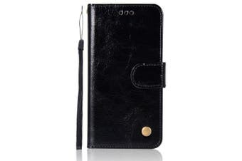 Vintage Case for Xiaomi Redmi 3S Case Wallet Flip PU Leather Cover Cases for Redmi 3S / Redmi 3S PRO Phone Bag with Stand- Black