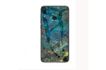 LEEHUR Marbled Glass Case for Xiaomi Redmi Note 7- Green