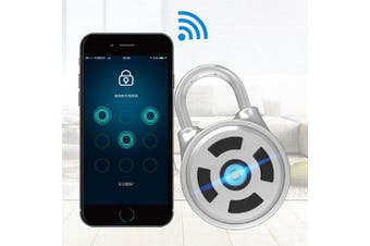 Pl-M1 Smart Electrical Bluetooth Padlock Mobile App Password Keyless Lock with Temporary Charging Interface- Silver