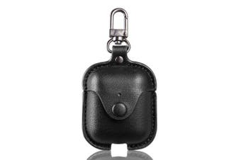 Accessories for the iPhone AirPods case key luxury leather storage bag headphone cover with key ring- Black China