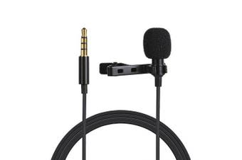 movingmic RecordLav Multi-function Collar Clip Mic- Black