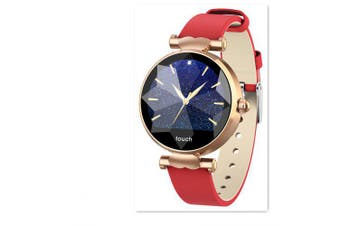 Blood Pressure Heart Rate Smart Watch For Woman- Red China