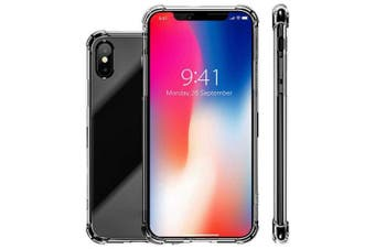 Four Corners Drop Clear Shockproof Soft TPU Case Cover for iPhone XS Max- Transparent
