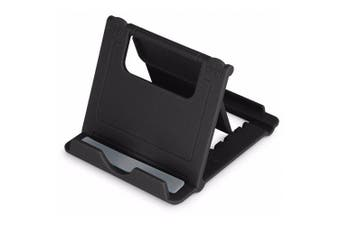 Mini Universal Tablet Stand Mount Holder Phone Desktop Bracket- Black