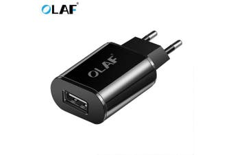 OLAF EU USB Charger 2A Mobile Phone USB Charger Fast Charging Wall Charger USB Adapter- Black EU
