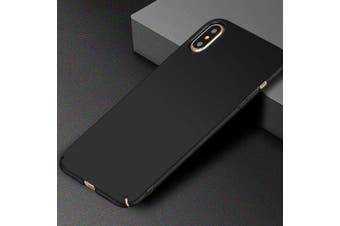 Scrub Hard PC Phone Case Cover for iPhone XS- Black