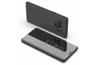 Cover Case for Samsung Galaxy note 9 Luxury Mirror Clear View Flip Stand Leather- Black