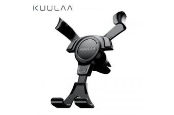 KUULAA Gravity Car Holder For Phone in Car Air Vent Clip Mount No Magnetic Mini Mobile Phone Holder- Black