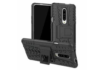 Protective Phone Case with Holder for Oneplus 7 Pro- Black