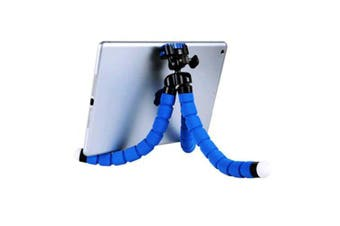 Phone Holder Flexible Octopus Tripod Bracket Selfie Expanding StandBlack- Dark Blue China