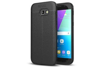Shockproof Back Cover Solid Color Soft TPU Case for Samsung Galaxy A5 (2017) / A520- Black