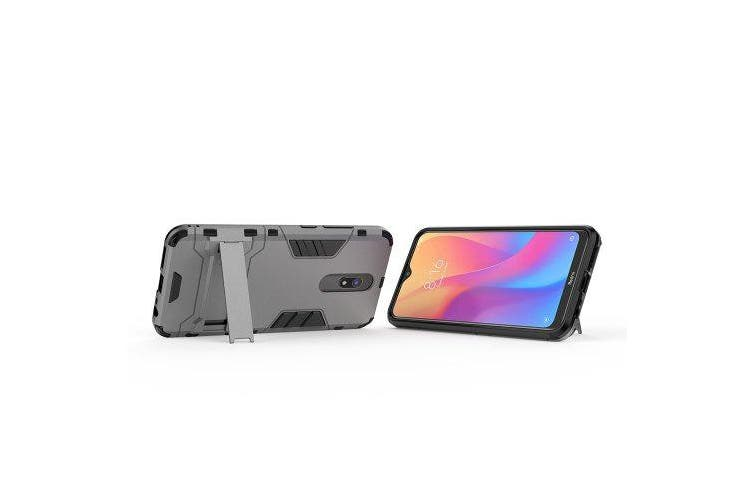 Shockproof Protection Armor Phone Case for Xiaomi Redmi 8 / 8A- Gray