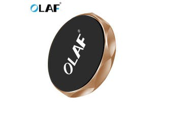 OLAF Universal Magnetic Car Phone Holder Phone Air Vent Free Paste Stand For iPhone Samsung Xiaomi- Golden