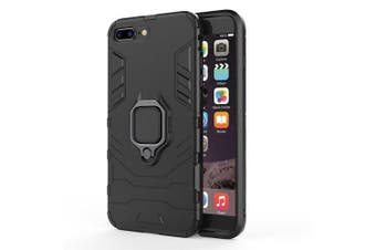 For iPhone 7 Plus Case Slim Ring Coque Armor Magnetic Attraction Anti-Knock- Black